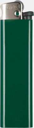 Grön (metall topp) Cricket tändare med eget reklamtryck