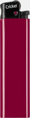 Vinröd (svart topp) Cricket tändare med eget reklamtryck