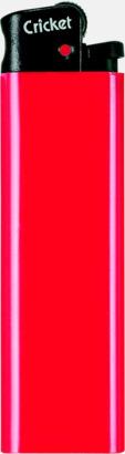 Röd (svart topp) Cricket tändare med eget reklamtryck
