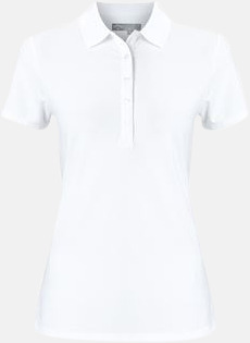 Bright White Callaway dampikéer med reklamtryck