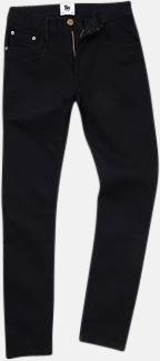 Svart (herr) Tighta jeans med reklamlogo