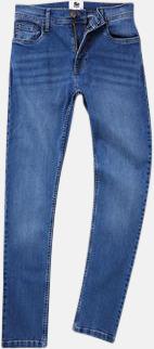 Mid Blue Wash (herr) Tighta jeans med reklamlogo