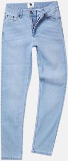Light Blue Wash (dam) Raka herr- & dam denim jeans med reklamlogo