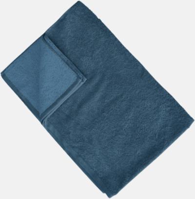 Mörkblå/Captain's Blue (Colonial Blue) Flerfärgade handdukar med reklamlogo