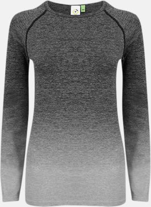 Dark Grey - Light Grey Marl Långärmade träningstoppar med reklamtryck