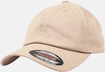 Khaki Dad caps med reklamlogo