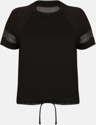 Svart Funktions t-shirts med mesh - med reklamtryck