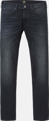 Blue Black Night Avsmalnande Lee jeans med reklamlogo