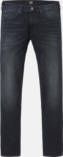 Blue Black Night Avsmalnande Lee jeans med reklamlogo