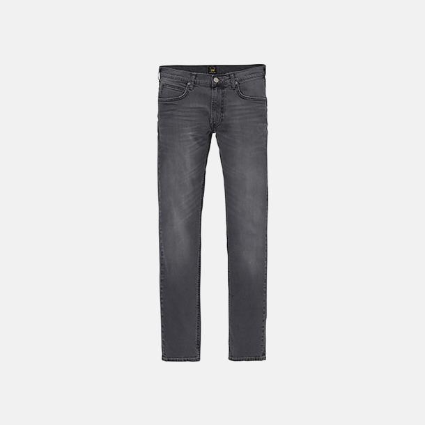 Black Lead Avsmalnande Lee jeans med reklamlogo