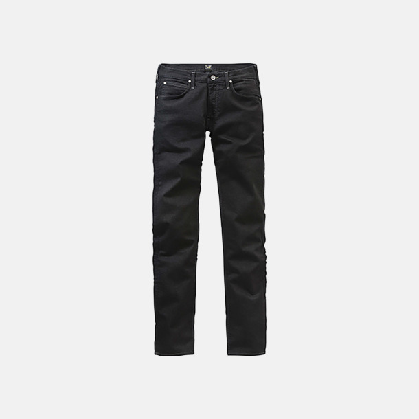 Clean Black Lee jeans med klassisk passform med reklamlogo