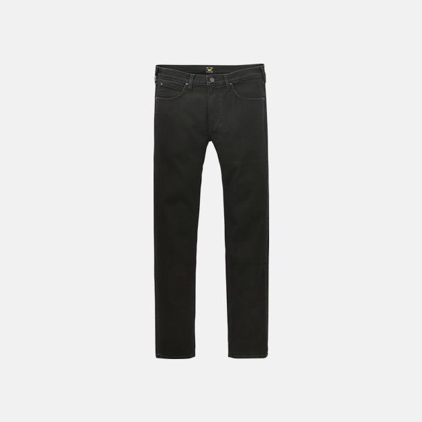 Black Rinse Slimmade herr Lee jeans med reklamlogo
