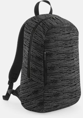 Grå / Svart Tvåfärgade ryggsäckar med reklamtryck