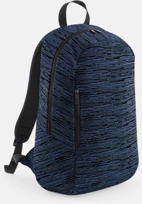 Marinblå / Svart Tvåfärgade ryggsäckar med reklamtryck