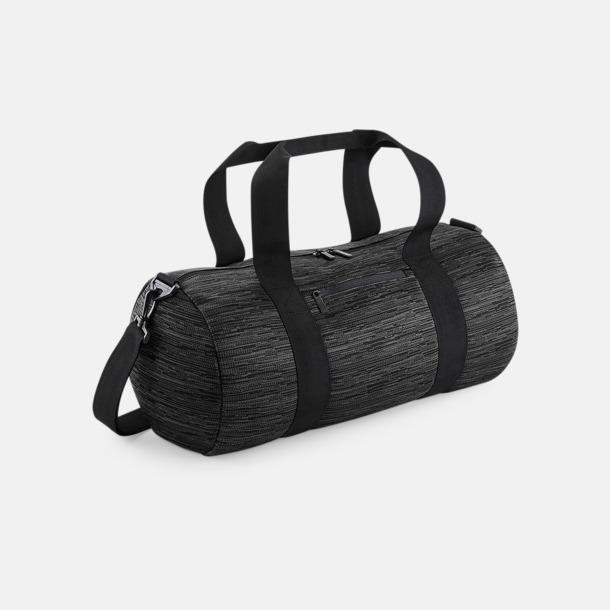 Grå / Svart Unika barrelbagar med reklamtryck