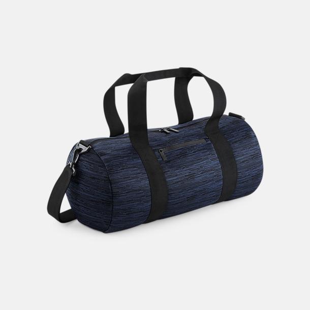 Marinblå / Svart Unika barrelbagar med reklamtryck