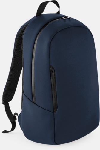 Marinblå Moderna ryggsäckar med reklamtryck