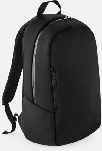 Svart Moderna ryggsäckar med reklamtryck