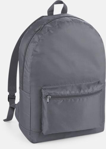 Graphite Grey Lättviktsryggsäckar med reklamtryck