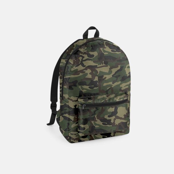 Jungle Camo/Svart Lättviktsryggsäckar med reklamtryck
