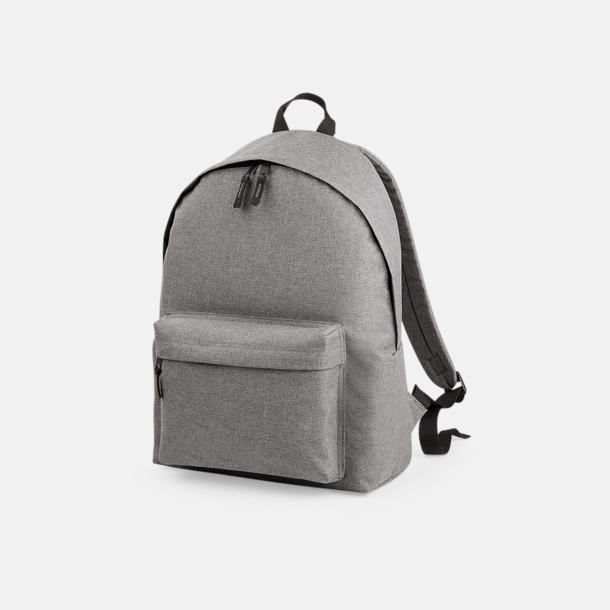 Grey Marl Snygga ryggsäckar med reklamtryck