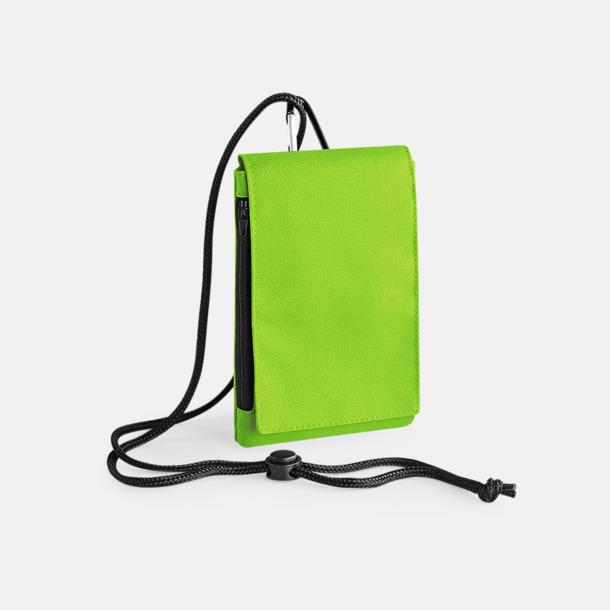 Limegrön Rymliga mobilfodral med reklamtryck
