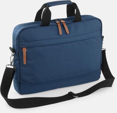 Navy Dusk Moderna laptopväskor med reklamtryck
