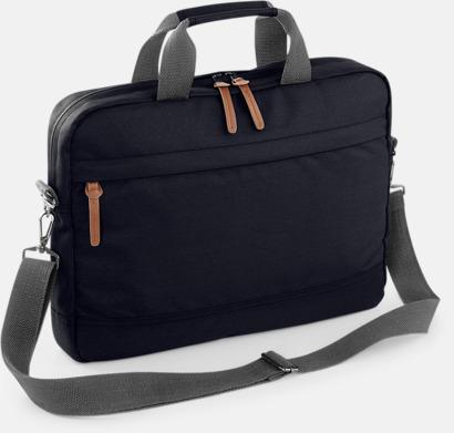 Svart Moderna laptopväskor med reklamtryck
