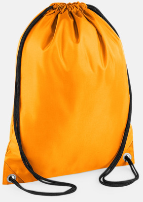 Orange Billiga gymnastikpåsar med reklamtryck