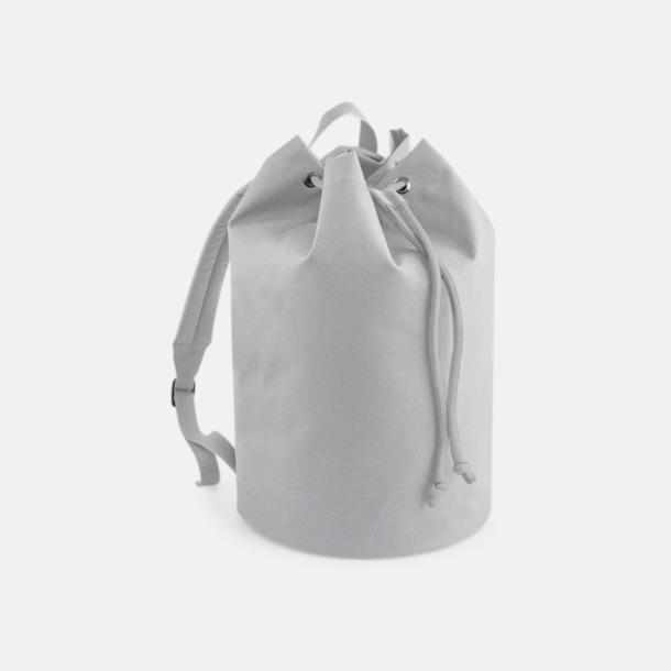 Ljusgrå Sailor ryggsäckar med reklamtryck
