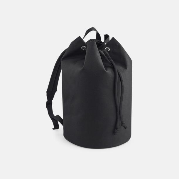 Svart Sailor ryggsäckar med reklamtryck
