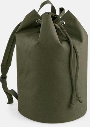 Military Green Sailor ryggsäckar med reklamtryck