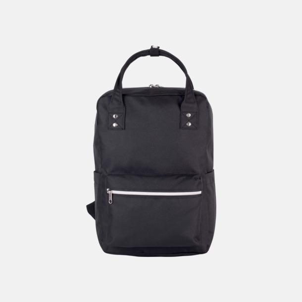 Svart Stadsvana ryggsäckar med reklamtryck
