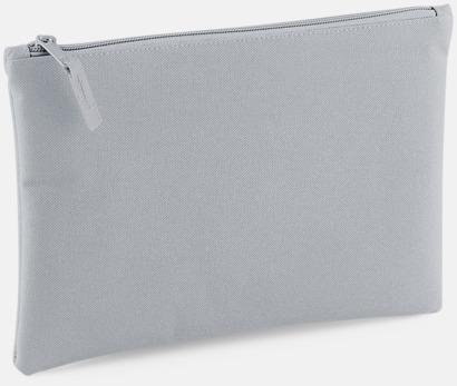 Ljusgrå Etuier i polyester med reklamtryck