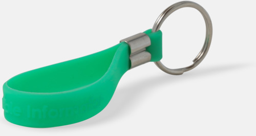 Nyckelringar med silikonband med reklamtryck