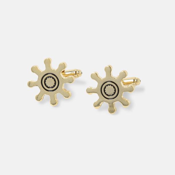 Guld Designa dina egna manschettknappar med logga