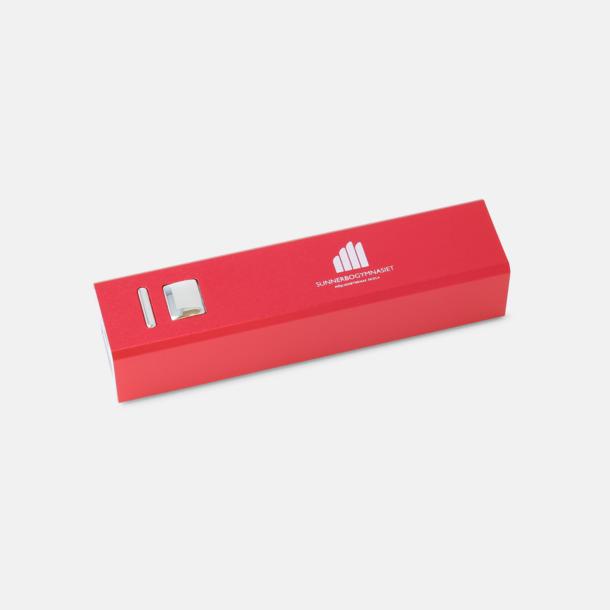 1-färgstryck Kraftfull mobilladdare med eget reklamtryck