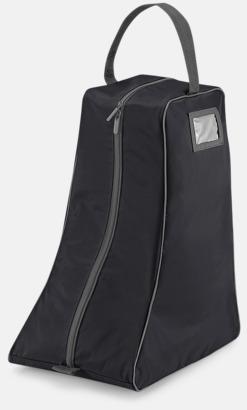 Svart/Graphite Grey Stövelväskor med reklamtryck
