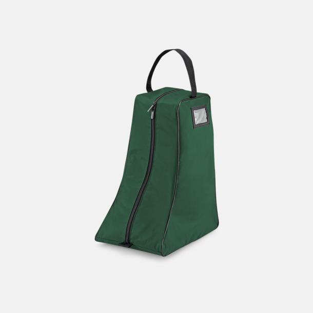 Bottle Green/Svart Stövelväskor med reklamtryck