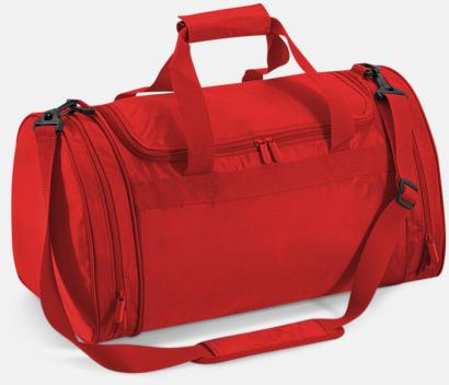 Bright Red Billiga sportbagar med reklamtryck