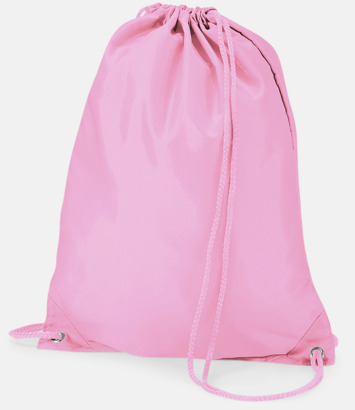 Classic Pink Enfärgade gymnastikpåsar med reklamtryck