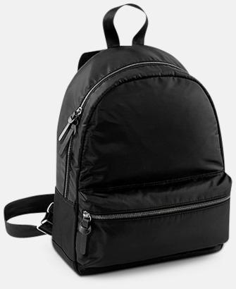 Svart Små, mörka ryggsäckar med reklamtryck