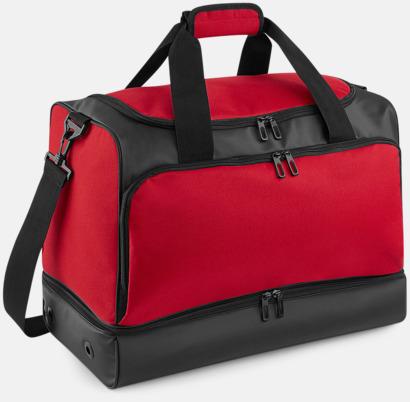 Classic Red/Svart Ventilerade sportbagar med reklamtryck