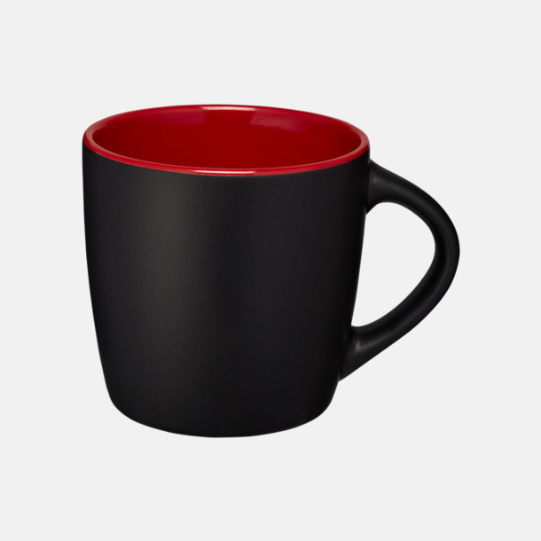 Svart / Röd Matta eller blanka muggar med reklamtryck
