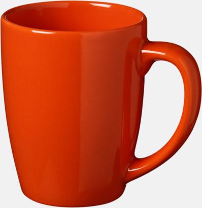 Orange 35 cl keramikmuggar med reklamtryck