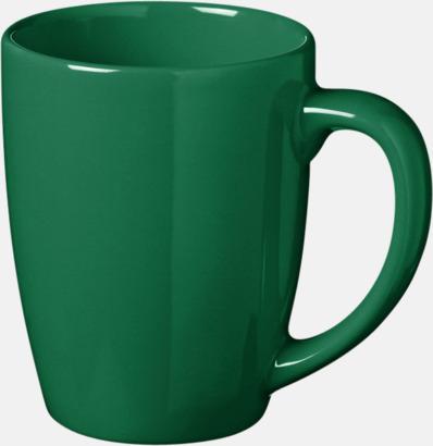 Grön 35 cl keramikmuggar med reklamtryck