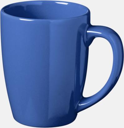 Blå 35 cl keramikmuggar med reklamtryck