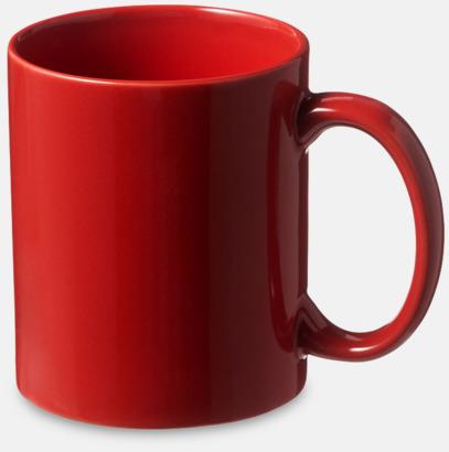 Röd Fina keramikmuggar med reklamtryck