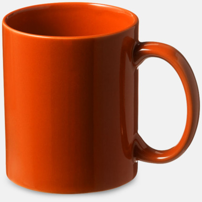 Orange Fina keramikmuggar med reklamtryck
