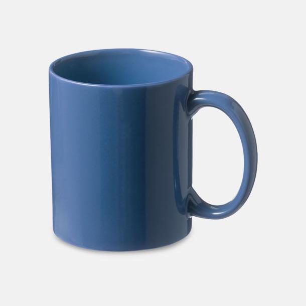 Blå Fina keramikmuggar med reklamtryck